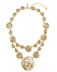 Oscar de la Renta - Metallic Swirls Double Necklace - Lyst
