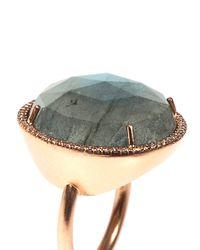 Irene Neuwirth | Green Diamond Labradorite Rosegold Ring | Lyst