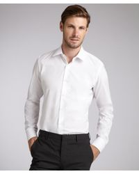 Prada | White Cotton Point Collar Dress Shirt for Men | Lyst