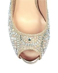 Belle By Badgley Mischka | Natural Elissa Embellished Metallic Pumps | Lyst