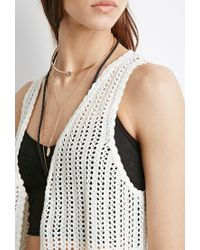 Forever 21 - White Asymmetrical Crocheted Vest - Lyst