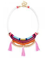 BaubleBar | Pink Antigua Tassel Bib | Lyst