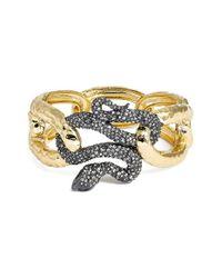 Alexis Bittar | Metallic Encrusted Serpent Hinge Bracelet | Lyst
