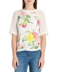 Ted Baker - Multicolor Roenina Floral Printed Top - Lyst