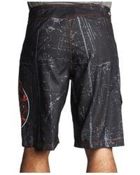 Affliction - Black Royal Chromatic Board Shorts for Men - Lyst