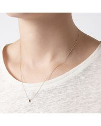 Mociun | Metallic Black Triangle Necklace | Lyst