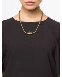 Lanvin - Metallic Charm Necklace - Lyst