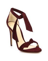Alexandre Birman | Purple Clarita Suede Ankle-tie Sandals | Lyst