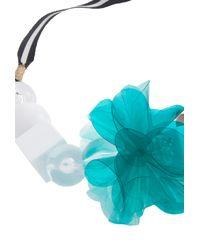 Trina Turk - Blue Pvc Flower Necklace - Lyst