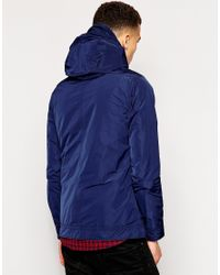 G-Star RAW - Blue G Star Hooded Jacket Kensetsu Nylon for Men - Lyst