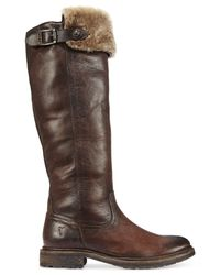 Frye - Brown Mara Button Over-the-knee Boots - Lyst