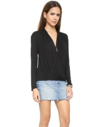 Ella Moss - Black Joy Blouse - White - Lyst
