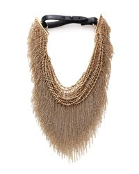 Brunello Cucinelli | Metallic Multi-strand Monili Collar Necklace | Lyst