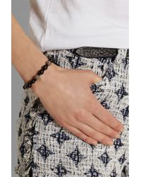 Iam By Ileana Makri - Black Oxidized Silver, Pavé Diamond And Ebony Bracelet - Lyst