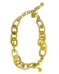 Ashley Pittman - Metallic Nyoka Necklace in Light Horn - Lyst