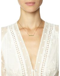 Laura Lee | Green Gold Emerald Bar Necklace | Lyst
