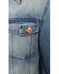 Carven | Orange Traffic Cone Pin for Men | Lyst