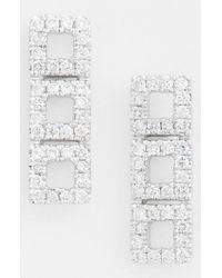 Dana Rebecca | Metallic 'allison Joy' Diamond Drop Earrings | Lyst