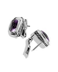 David Yurman - Purple Albion Earrings, 11mm Gemstone - Lyst