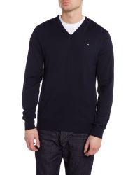 J.Lindeberg | Blue Lymann True Merino Sweater for Men | Lyst