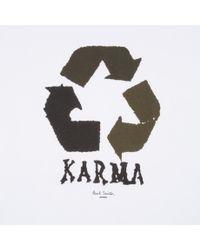 Paul Smith   White Karma-Print T-shirt for Men   Lyst