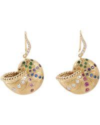 Aurelie Bidermann - Metallic Nautilus Earrings - Lyst