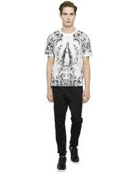 Dolce & Gabbana - Black Crown Embroidered Cotton Jogging Pants for Men - Lyst