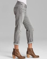 Citizens of Humanity | Gray Jeans Dylan Relaxed Boyfriend in Fremont Stripe | Lyst