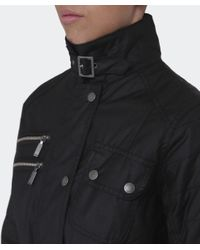 Barbour   Black Fireblade Belted Wax Jacket   Lyst