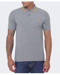 Stussy - Gray Polka Dot Polo Shirt for Men - Lyst
