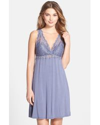 Fleur't | Blue 'whispers Of Love' Lace Bodice Chemise | Lyst