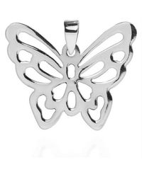 Aeravida | Metallic Exquisite See-thru Butterfly .925 Silver Pendant | Lyst