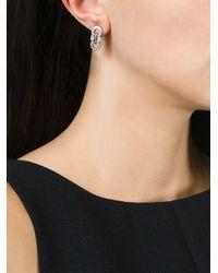 Ferragamo | Metallic Strass Crystal Stud Earrings | Lyst