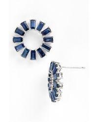 Dana Rebecca | 'anna Beth' Sapphire Stud Earrings - Dark Blue Sapphire/ White Gold | Lyst