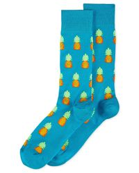 Hot Sox - Blue Men's Pineapples Socks for Men - Lyst