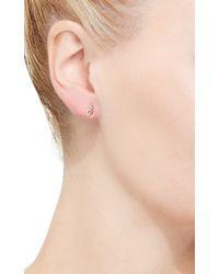 Hirotaka - Metallic Diamond Doorknocker Earrings With Small Hoops - Lyst
