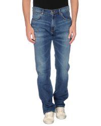 Wrangler | Blue Denim Trousers for Men | Lyst
