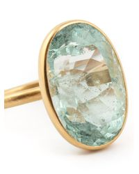 Marie-hélène De Taillac - Metallic Oval Aquamarine Ring - Lyst