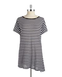 MICHAEL Michael Kors | Black Striped Tie Top | Lyst