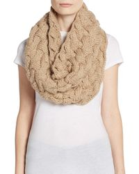 Saks Fifth Avenue | Natural Braided Infinity Scarf | Lyst