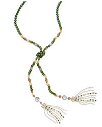 INC International Concepts | Green Gold-tone Colorful Bead Lariat Necklace | Lyst