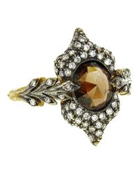 Cathy Waterman - Metallic Double Leaf Ring - Lyst