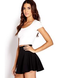 Forever 21 - White Daring Zippered Crop Top - Lyst