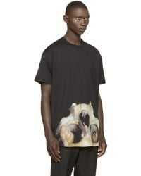 Givenchy - Black Skull Graphic T-shirt for Men - Lyst