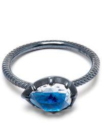 Larkspur & Hawk - Blue Sky Bella Stacking Pear Ring - Lyst
