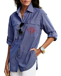 Finley - Blue Double-pocket Fishing Shirt - Lyst