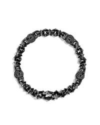 David Yurman - Black Armory Medium Link Bracelet for Men - Lyst