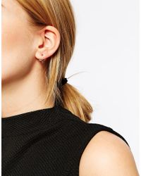 ASOS | Metallic Mini Bird Swing Earrings | Lyst