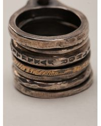 Tobias Wistisen - Metallic Stacked Rings for Men - Lyst