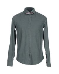 Aglini - Green Shirt for Men - Lyst